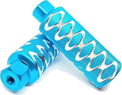 for Freestyle BMX Bikes and All Kinds of Bicycles Stylish Non-Slip Carving(2 Pieces) Fit 3//8 inch Axles Durable WADEKING Bike Pegs 4.3 Length