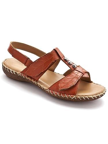 c65a1c4938b87d Pediconfort - Sandales ultra souples en cuir - femme - Taille : 42 -  Couleur :