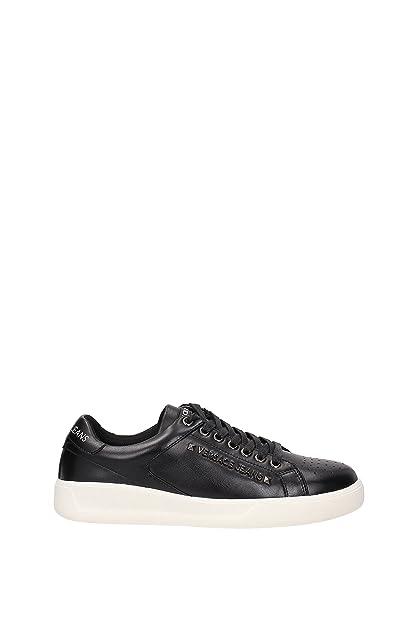 Versace Zapatillas de Deporte de Otra Piel Hombre, Negro (Negro), 45: Amazon.es: Zapatos y complementos