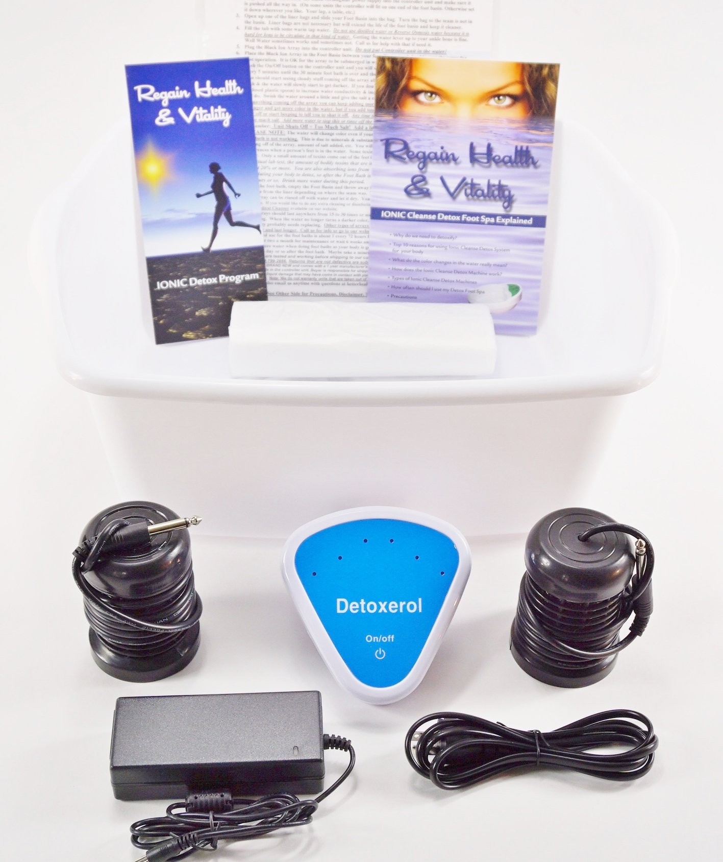 FOOT SPA DETOX MACHINE - With Foot Basin - FREE Regain Health and Vitality Brochure and 16 page Booklet. - From Better Health Company by BHC (Image #1)