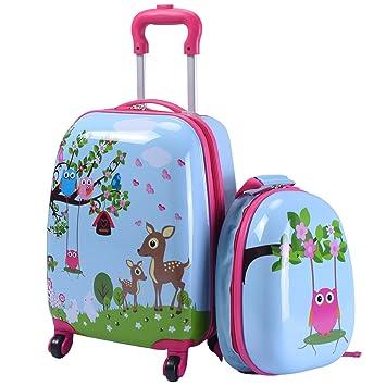 valise fille rose roulette