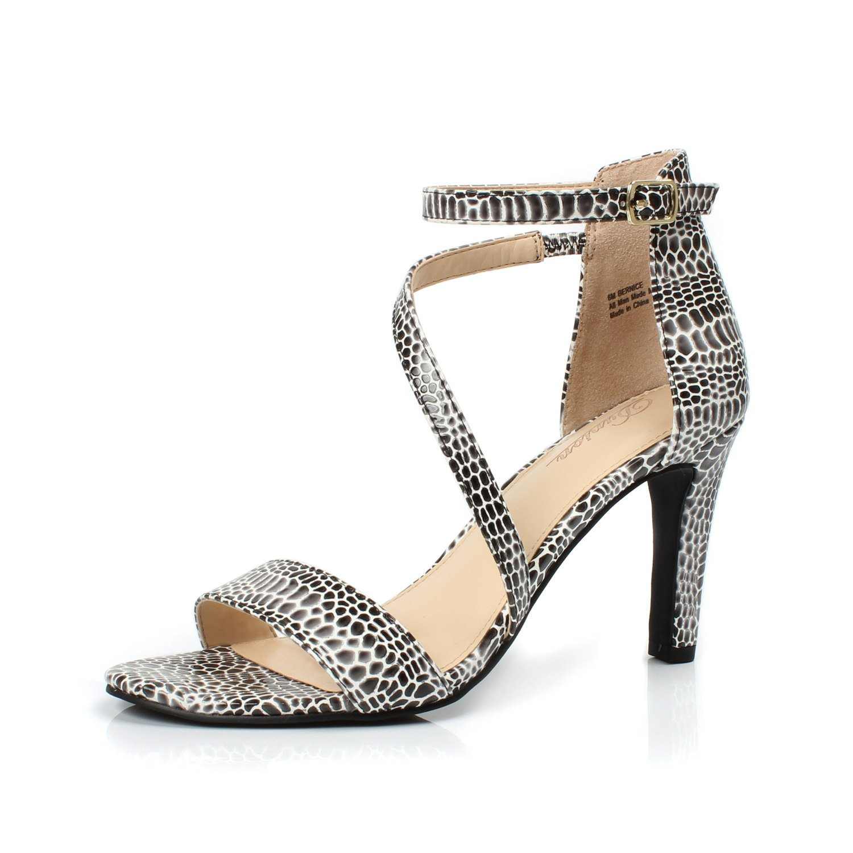 4e3a215056e DUNION Women's Amy Rhinestone Strappy Stiletto High Heel Dress ...