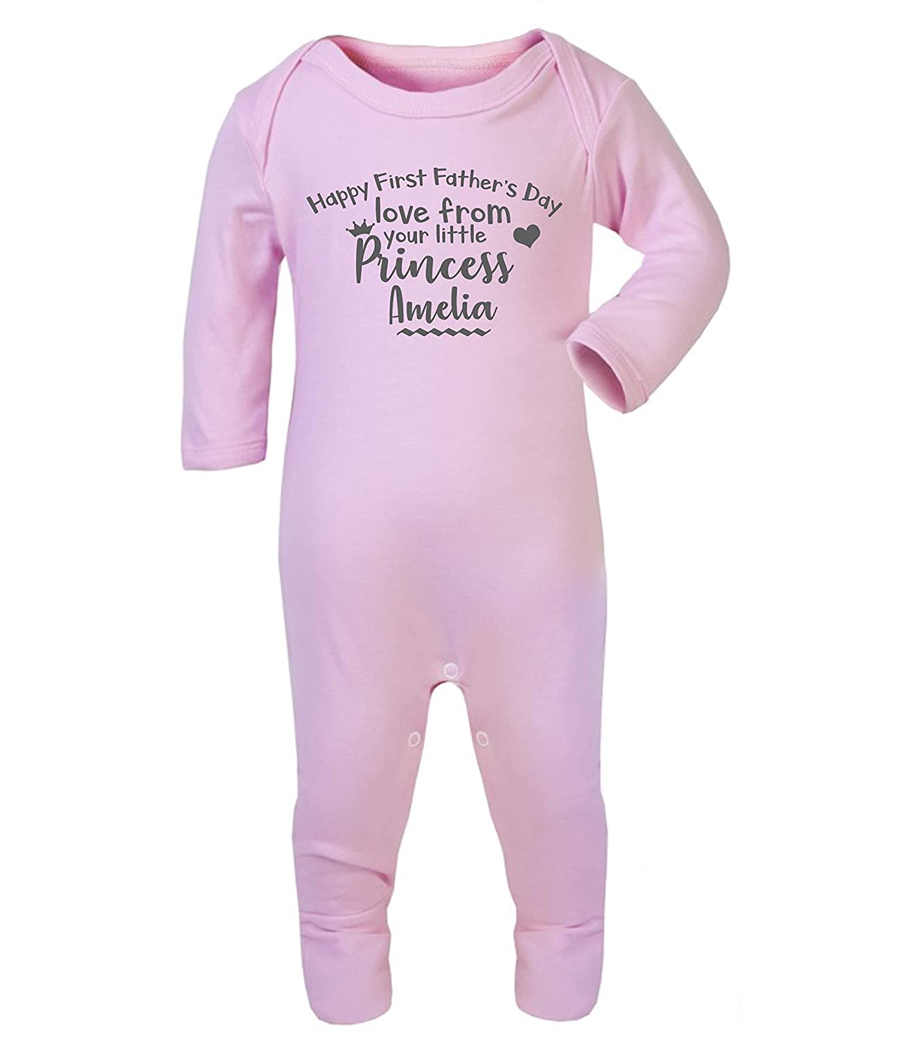 Personalised Our First Father/'s Day 2019 Baby Grow Baby Gifts First Dad New Girl