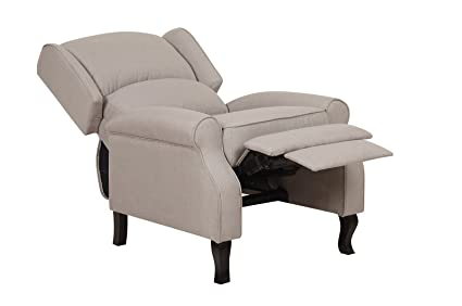 Magnificent Us Pride Furniture Contemporary Linen Fabric Accent Recliner Chair Beige Gmtry Best Dining Table And Chair Ideas Images Gmtryco