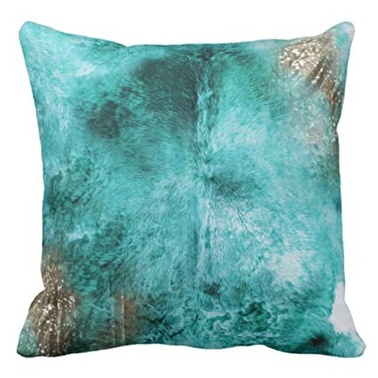 Amazon Emvency Throw Pillow Cover Turquoise Brown And White Stunning Brown And Turquoise Decorative Pillows