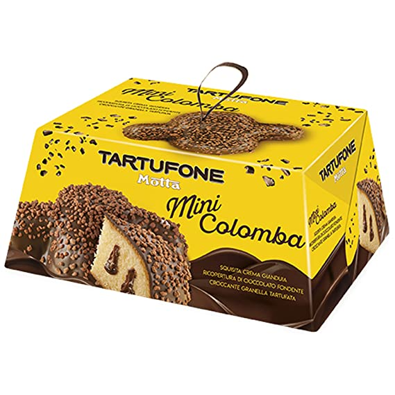 24 X Mini Colomba Tartufone Cioccolato Gianduia Motta 120 Gr Pasqua