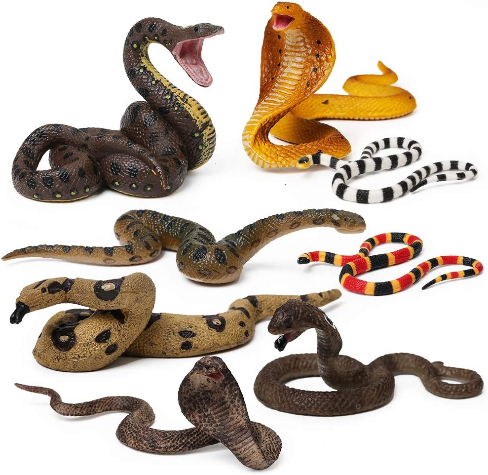 Mojo CORAL SNAKE Wild zoo animals play model figure toys plastic forest jungle