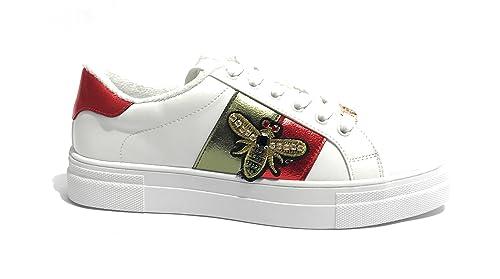 GOLD & GOLD Scarpe Donna Sneaker in Ecopelle Col. Cipria con Perline E Strass DS18GG04 Precio Barato Wiki Visite En Línea Barato Manchester Gran Venta En Línea bLnASur