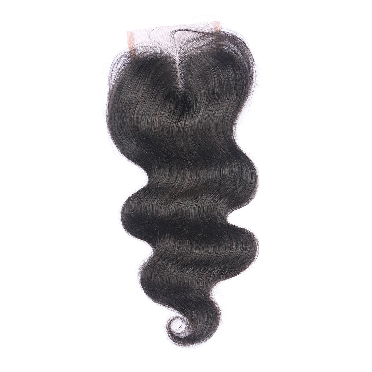 Free Part Lace Closure Human Hair, Brazilian Straight Closure with Baby Hair (08 inch)