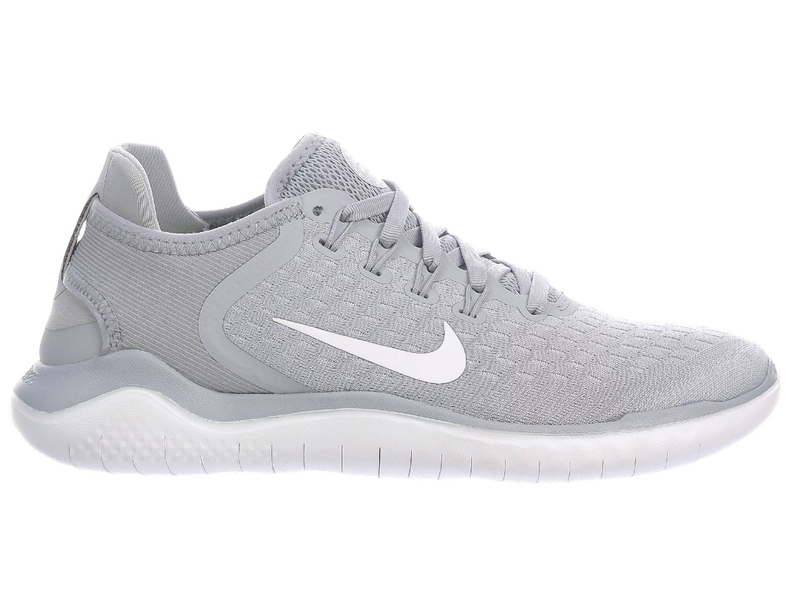 NIKE Women's Free RN 2018 Wolf Grey/White-White-Volt Running Shoes (8 B US) by NIKE (Image #1)
