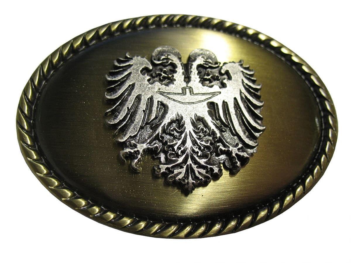 Buckle Wechselschlie/ße G/ürtelschlie/ße 40mm Massiv f/ür Lederhose Dirndl Tracht Brazil Lederwaren G/ürtelschnalle Doppeladler 4,0 cm