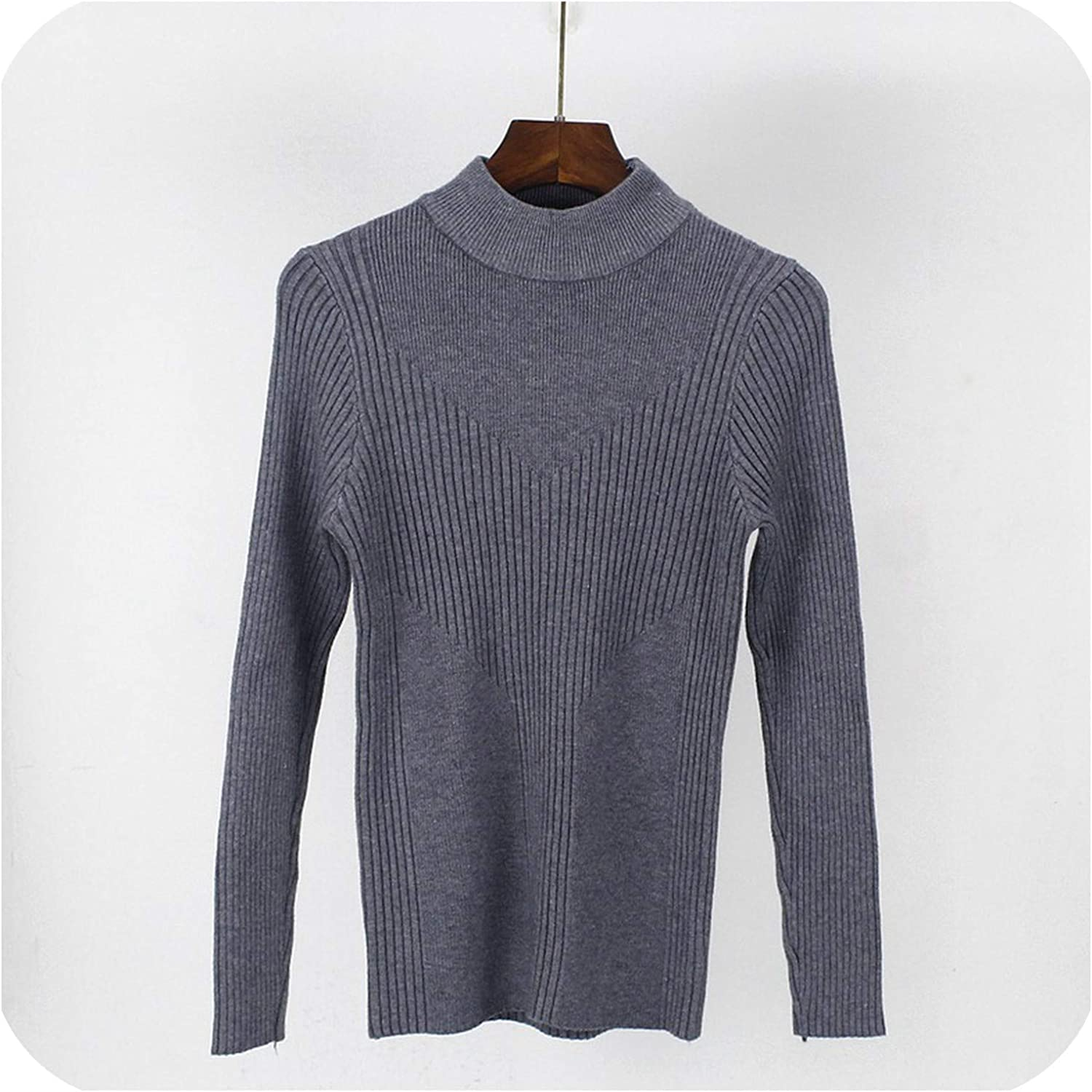 Thick Warm Women Autumn Winter Pullover Sweater High Elasticity Knitted Soft Jumper Long Sleeves Sweater Top