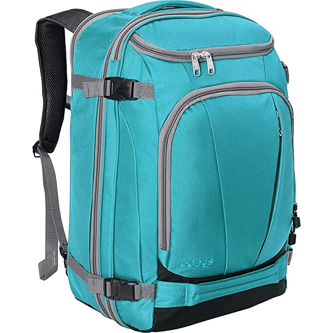"eBags TLS Mother Lode Weekender Convertible Carry-On Travel Backpack - Fits 19"" Laptop - (Tropical Turquoise) best travel backpack"