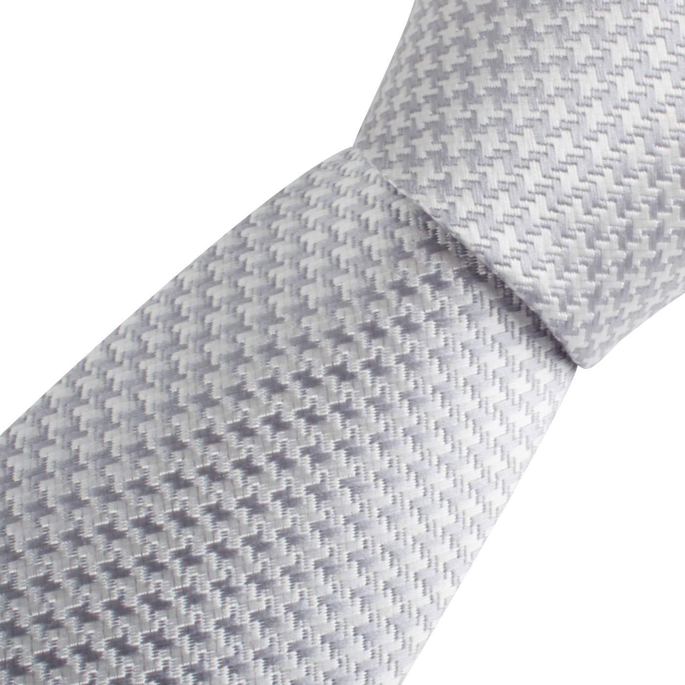 Chris Vu Cravate /él/égante en tons argent/és