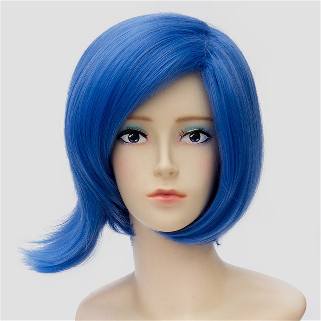 Amazon.com : Inside Out Short Blue Straight Cosplay Anime ...