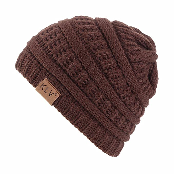 OHQ Sombrero Boy Girls Warm Crochet Invierno Lana Punto Esquí ...