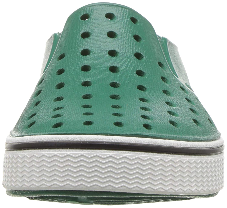 Native Kids Unisex-Kids Miles Child Sneaker Evergreen//Shell White 13 Medium US Little Kid