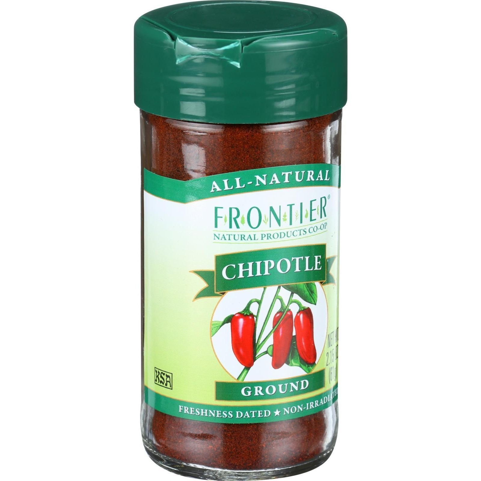 Frontier Herb - Ground chipotle smoked jalapeno - 2.15 oz - Gluten Free - Wheat Free - Kosher by Frontier (Image #1)