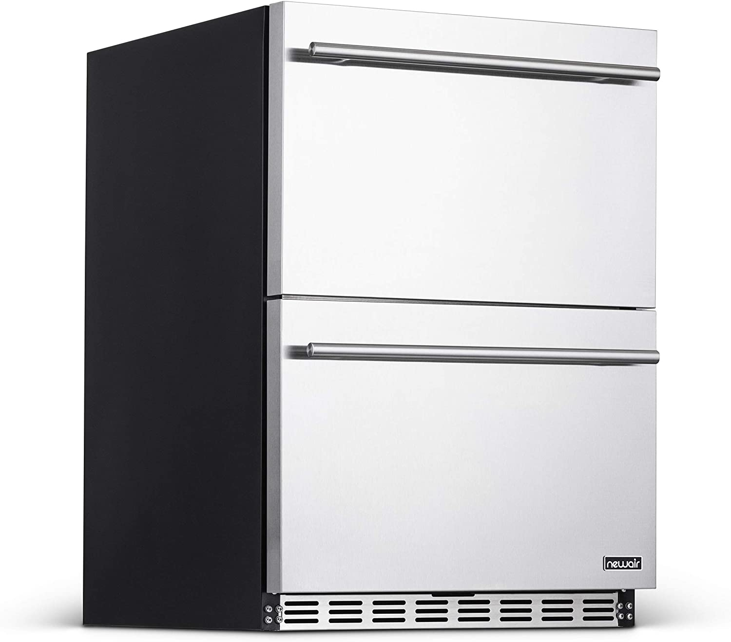 NewAir NOF100SS00 Built-In Beverage Fridge, 80 Can, Stainless Steel, 80 Can