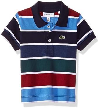 f095f2c3d Amazon.com: Lacoste Boy Short Sleeve Multico Stripes Pique Polo: Clothing