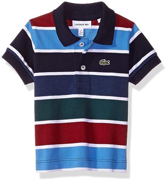 983e3eee Lacoste Boys Boy Short Sleeve Multico Stripes Pique Polo ...