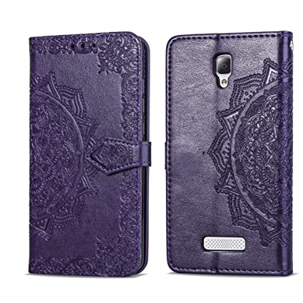check out 343a7 2cb51 Amazon.com: Lenovo A2010 Leather Case Yunbaozi Wallet PU Flip Cover ...