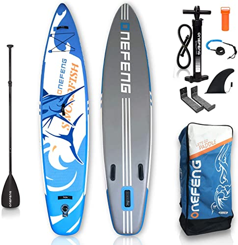 ASMSW Inflatable Stand Up Paddle Board Package 11 5 Long x 29.5 Wide x 6 Thick Durable and Lightweight SUP Stable Wide Stance
