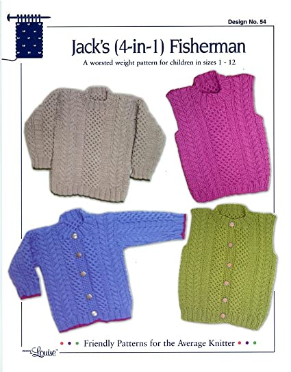 Amazon Design By Louise Knitting Pattern 54 Jacks 4 In 1