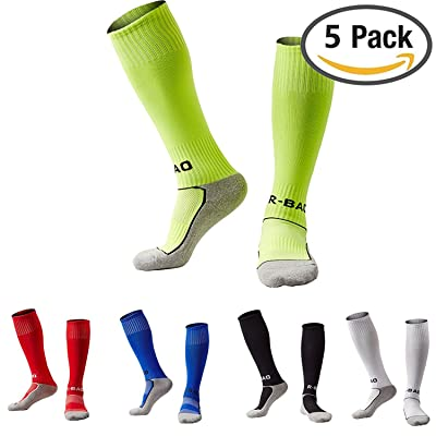 Boys/Girls Outfits Compression Long Sport Knee High Football & Soccer Socks Pack (Kids/Youth Gifts)
