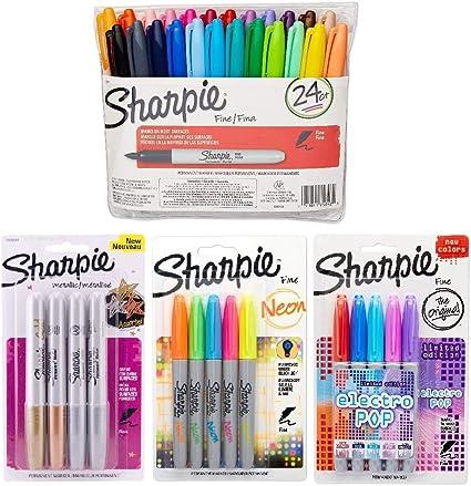 Sharpie Fine Point Marcador permanente Set, varios colores, 39 ...