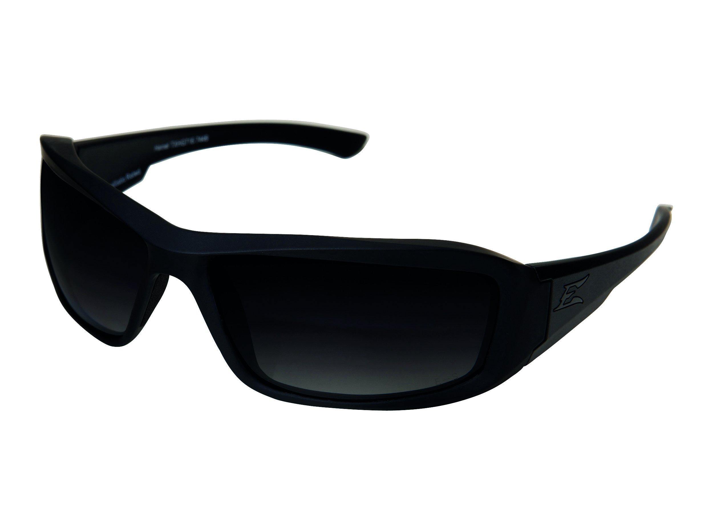 Edge Tactical Eyewear TXHG716 Hamel Matte Black with Polarized Gradient Smoke Lens by Edge Eyewear