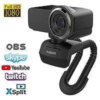 AUSDOM Stream Webcam 1080p/30FPS avec Microphone Caméra Web pour Skype FaceTime Youtube Twitch, Kompatibel avec Windows et Mac