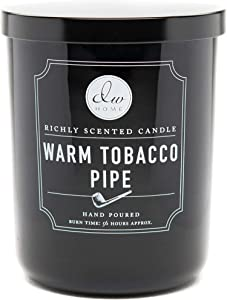 DW Home, Large Double Wick Candle, Warm Tobacco Pipe