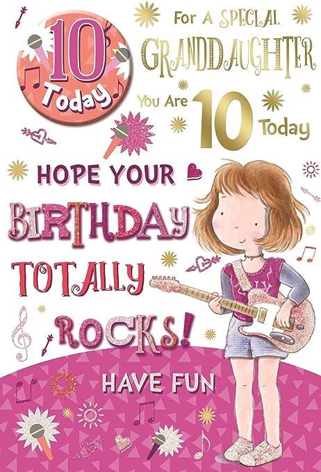 10th BIRTHDAY CARD GIRL