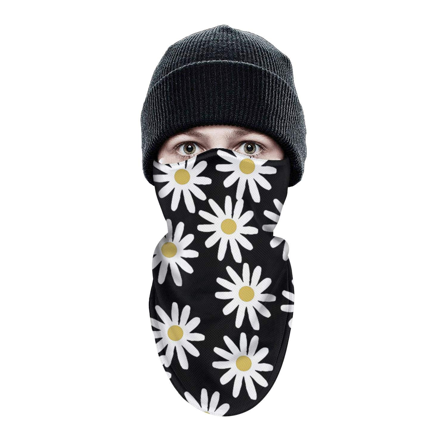 isjdsoa Love Daisy Floral Balck Ski Mask Men Women Balaclava Mask for Cold Winter Weather,Ski and Snowboard