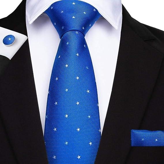 KYDCB Moda Punto Azul Regalos Corbata para los Hombres 150 cm ...