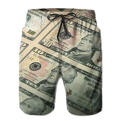 19c36bae96 loejrfw Money Men's Summer Beach Quick-Dry Surf Swim Trunks Boardshorts  Cargo Pants Small