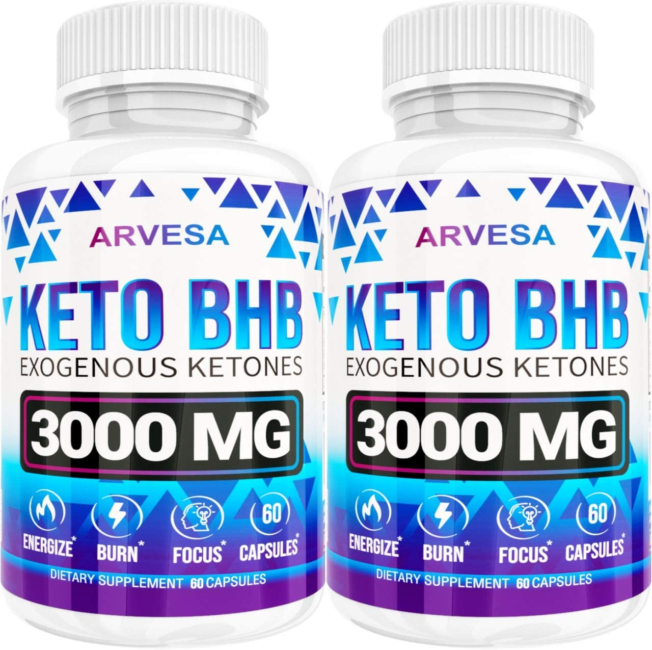 Keto Diet Pills – 5X Dose 2 pack 3000mg Keto BHB – Best Exogenous Ketones BHB Supplement for Women and Men – Boost Energy Focus, Support Metabolism – Made in USA – 120 Capsules