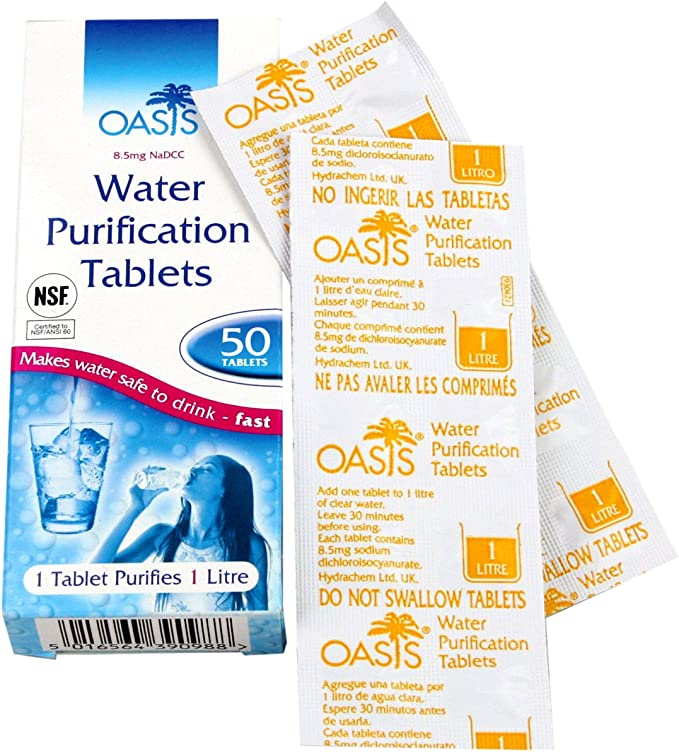Highlander Aquaclear water purification tablets