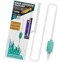 TERA PUMP Nano Aquarium Gravel/Sand Cleaner (BPA-Free/Safe for Small Aquarium Life) for Aquarums Under 10 Gallons