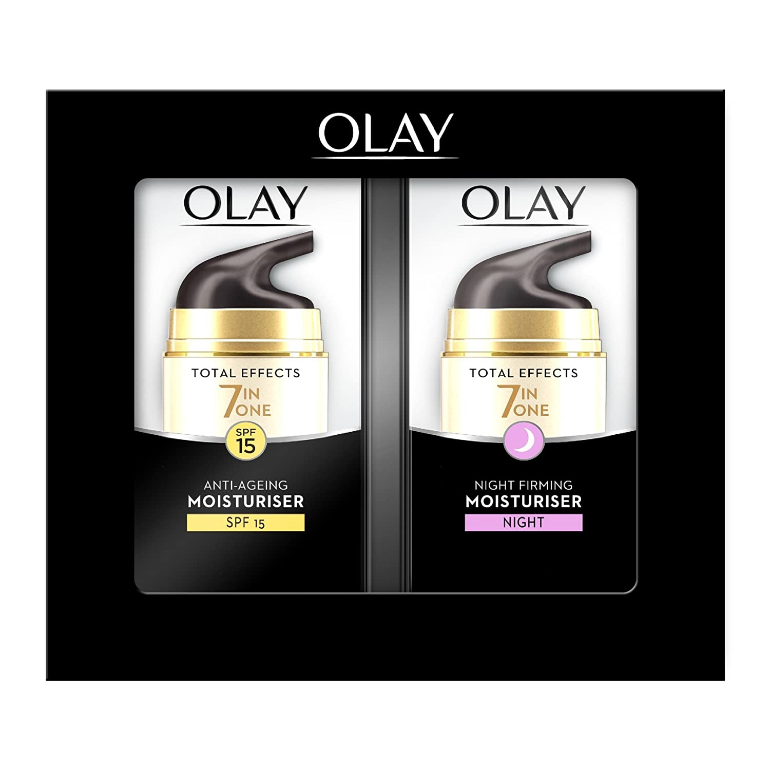 Olay Total Effects Anti-Ageing 7-in-1 Gift Set: Day Cream Moisturiser, 37 ml with Night Cream Firming Moisturiser, 37 ml Procter & Gamble OLA0491A
