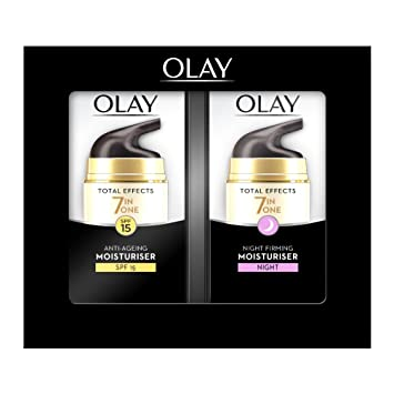 Image Unavailable  sc 1 st  Amazon.com & Amazon.com: Olay Total Effects Anti-ageing 7-in-1 Gift Set: Day ...