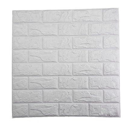 Amazon.com: 3D Brick Wall Stickers, PE Foam Self-adhesive Wallpaper ...