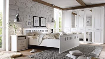 Möbel Akut Schlafzimmer Set Landhaus Emma Schrank Doppelbett ...