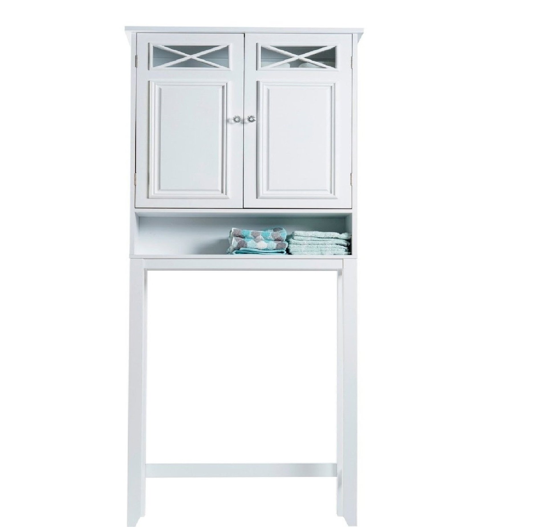 Space Saver Shelves Over the Toilet Shelving Storage Cabinet Bathroom Towels by Virgo