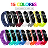 BANGTING 15 PCS Correa Compatible con Pulseras Xiaomi Mi Band 3/4, Correas para Fundas Mi Fit Band 4 My Band 3…