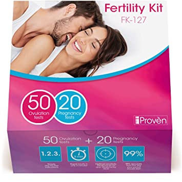 Ovulation Test Strips and Pregnancy Test Kit - 50 LH and 20 HCG - OPK  Ovulation Predictor Kit iProven