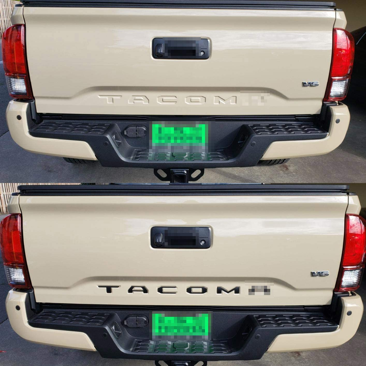 Plastic Inserts with 3M Adhesive Backing Replacement for 2016 2017 2018 2019 2020 2021 Toyota TACOMA Matte Black GLAAPER 3D Raised Tailgate Insert Letters Rear Emblems