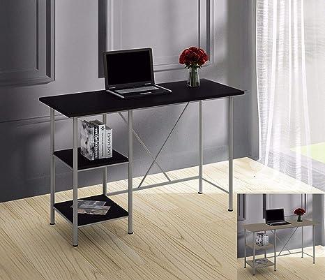 Mesa de Trabajo para Ordenador, Color Gris, para Oficina o casa ...