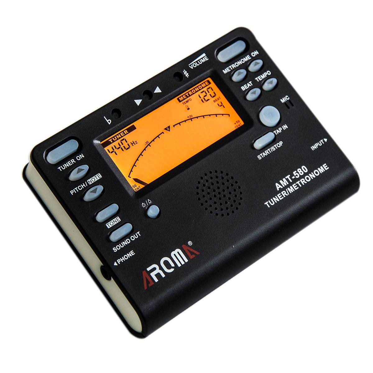 ammoon Clip en Metr/ónomo de Tiempo de Beat Digital Pantalla LCD Ligero /& Mini para Viol/ín Guitarra Bajo Instrumento Musical